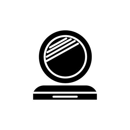 메이크업 미러 아이콘, 일러스트, 벡터 격리 된 배경에 서명