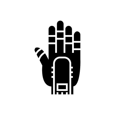 手のマニピュレーターのアイコン、イラスト、孤立した背景のベクトルサイン