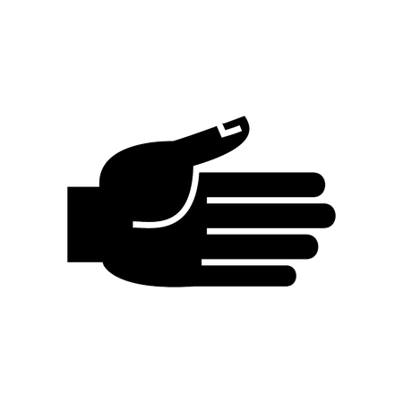 hand open  icon, illustration, vector sign on isolated background