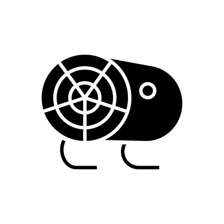 industrial fan heater icon, illustration, vector sign on isolated background Ilustracja