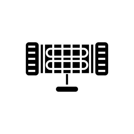 赤外線ヒーターのアイコン、イラスト、ベクトル分離背景に記号