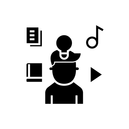 intellectual property rights - marketing idea icon, illustration, vector sign on isolated background