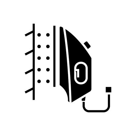 철 증기선 아이콘, 그림, 벡터 격리 된 배경에 서명