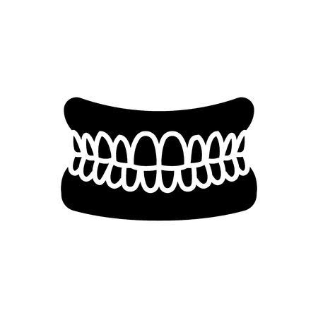 jaw with teeth - human jaw icon, illustration, vector sign on isolated background 版權商用圖片 - 88152850