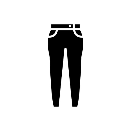 jeans icon, illustration, vector sign on isolated background Illustration