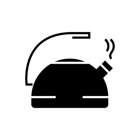 kettle metal icon, illustration, vector sign on isolated background