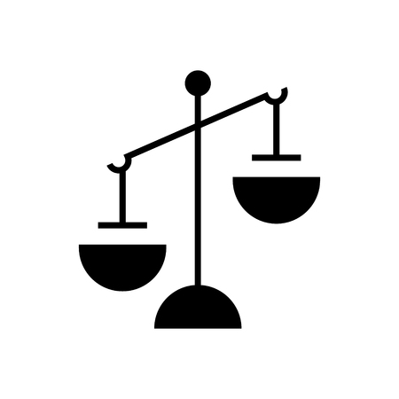 justice simple icon, illustration, vector sign on isolated background