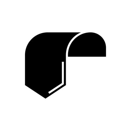 레이블 태그 1 아이콘, 일러스트, 벡터 격리 된 배경에 서명