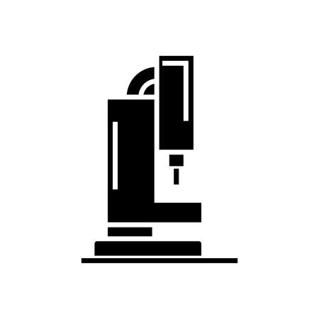 laser cutting machine icon, illustration, vector sign on isolated background Çizim