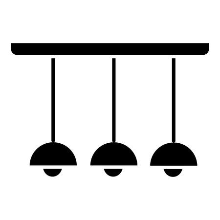 licht lamp plafond 3 pictogram, illustratie, vector teken op geïsoleerde achtergrond