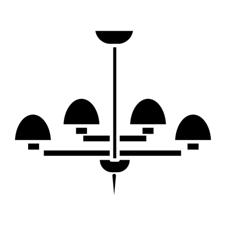 光のランプ天井ブラ アイコン、イラスト、ベクトル分離背景に記号