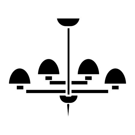 licht lamp plafond beha pictogram, illustratie, vector teken op geïsoleerde achtergrond