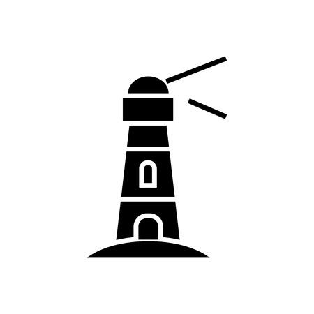 등 대 - 항해 건물 아이콘, 그림, 벡터 격리 된 배경에 서명 일러스트