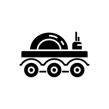 moon rover: lunar vehicle icon, illustration, vector sign on isolated background