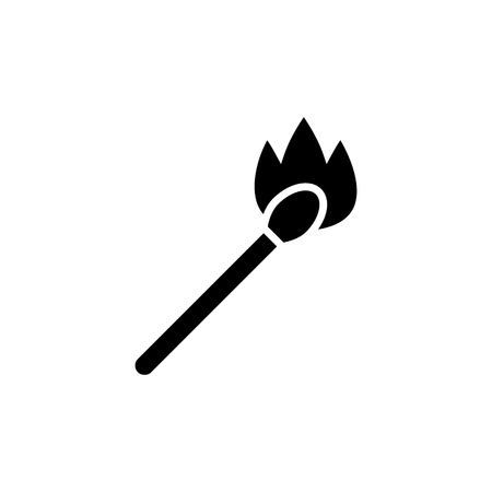 match on fire icon, illustration, vector sign on isolated background Çizim