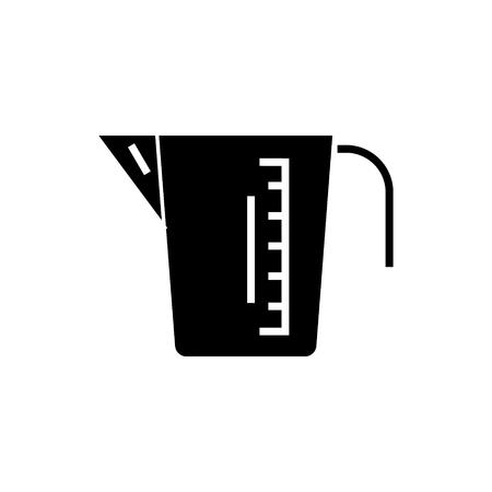 Maatbeker pictogram, illustratie, vector teken op geïsoleerde achtergrond Stockfoto - 88130813