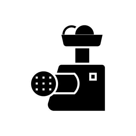 vleesmolen pictogram, illustratie, vector teken op geïsoleerde achtergrond