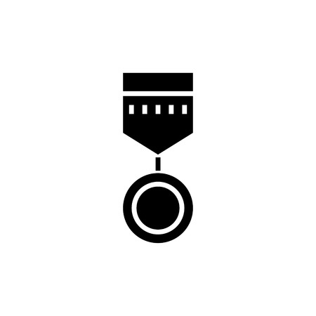 medal round icon, illustration, vector sign on isolated background