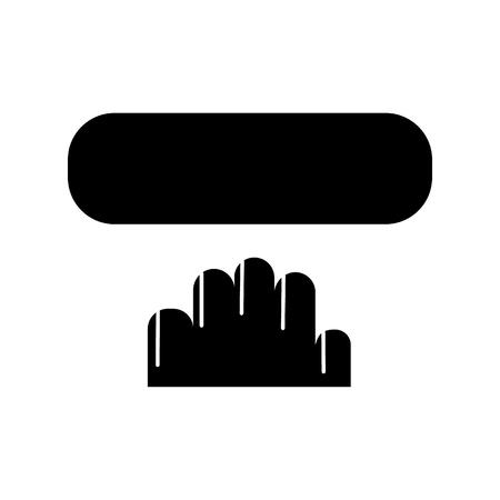 manicurepictogram, illustratie, vectorteken op geïsoleerde achtergrond Stock Illustratie