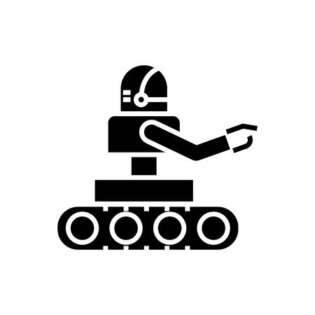 제조 로봇 아이콘, 일러스트 레이 션, 벡터 격리 된 배경에 서명 스톡 콘텐츠 - 88130831