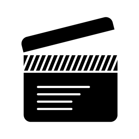 movie clapper icon, illustration, vector sign on isolated background Illustration