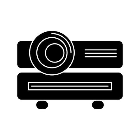 multimedia projector pictogram, illustratie, vector teken op geïsoleerde achtergrond