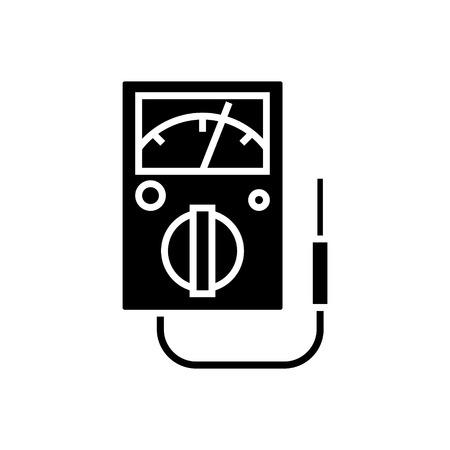 meter-04 pictogram, illustratie, vector teken op geïsoleerde achtergrond Stock Illustratie
