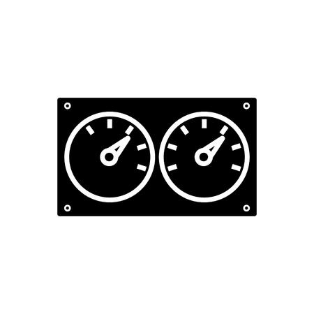 メーター コントロール デュアル アイコン デザイン イラスト。