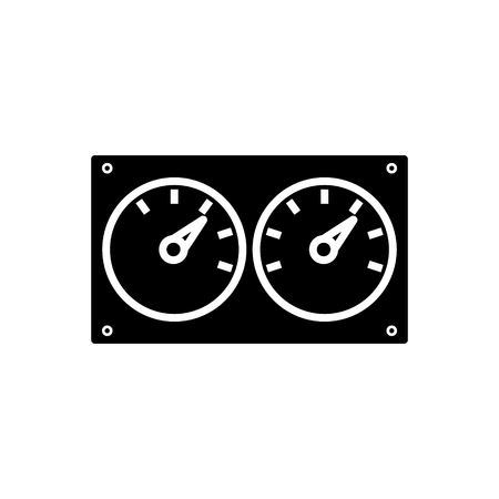 Meter control dual icon design illustration.