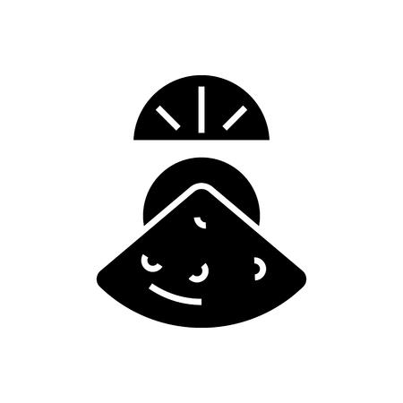 ムール貝のアイコン、イラスト、ベクトル分離背景に記号  イラスト・ベクター素材