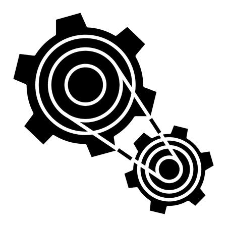Motor settings, engine icon, design illustration. Illustration