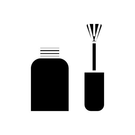 nagellak pictogram, illustratie, vector teken op geïsoleerde achtergrond