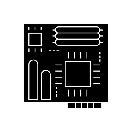 motherboard icon, illustration, vector sign on isolated background Illustration