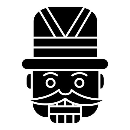 nutcracker - toy soldier icon, illustration, vector sign on isolated background