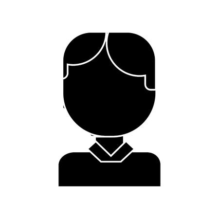 Icône de bureau homme tête, illustration, vecteur signe sur fond isolé Banque d'images - 88103936