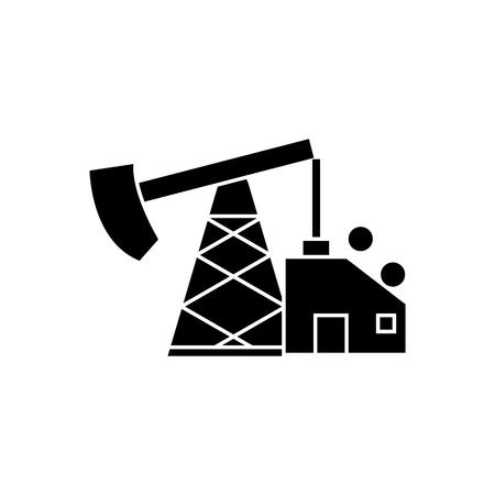 Oil pump icon, design illustration on a white backdrop.