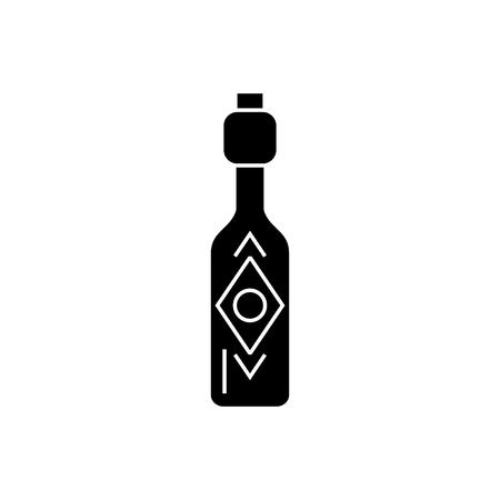 Icône de bouteille d'huile d'olive, illustration sur un fond blanc. Banque d'images - 88130519