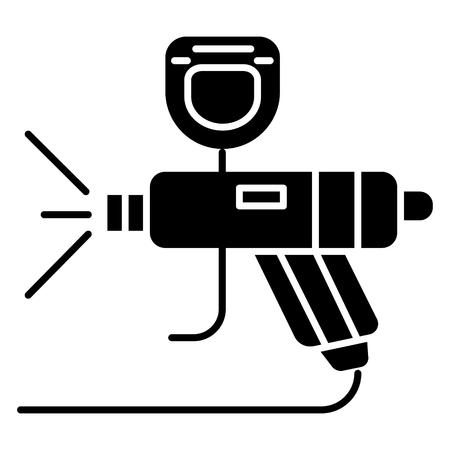 Painting service car icon on white background. Illustration