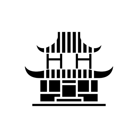 Pagoda icon illustration.