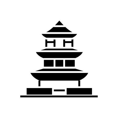 Pagoda japan icon.