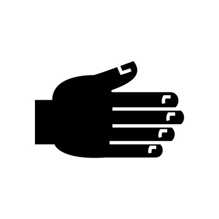 Open palm icon illustration.