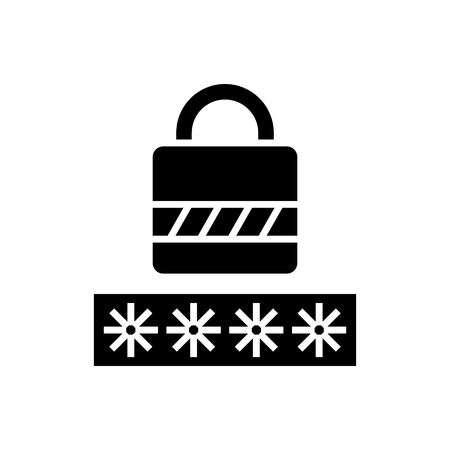 Lock icon. Illustration