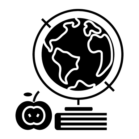 地球のアイコン。  イラスト・ベクター素材