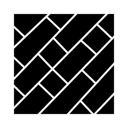 Parket pictogram, ontwerp illustratie of sjabloon. Stock Illustratie