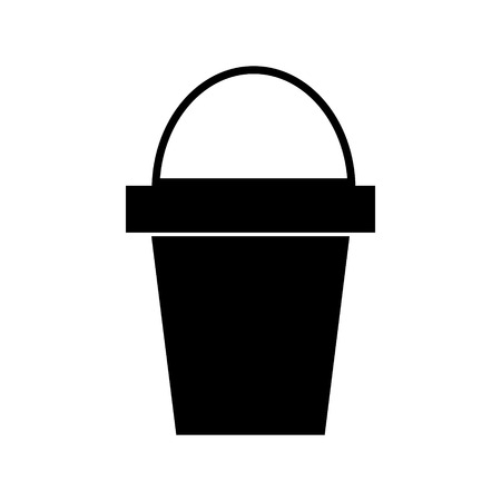 bucket icon, illustration, vector sign on isolated background