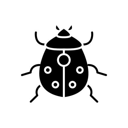 bug icon, illustration, vector sign on isolated background