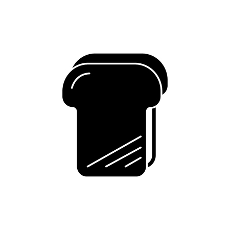 bread toast icon, illustration, vector sign on isolated background