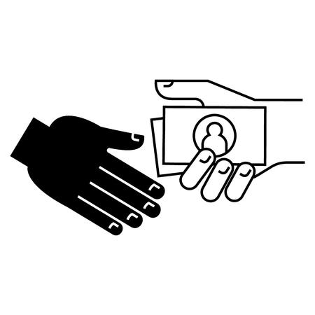 買収 - チップ - 年金アイコン、イラスト、ベクトル分離背景に記号