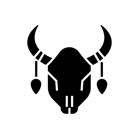 bull skull icon, illustration, vector sign on isolated background 版權商用圖片 - 88157365