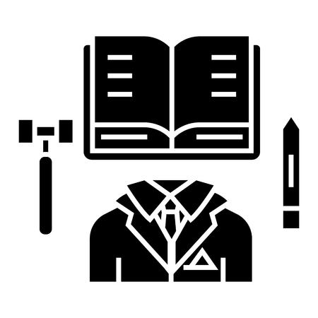 ビジネス法-オープンブックのアイコン, イラスト, 孤立した背景にベクトル記号 写真素材 - 88157388